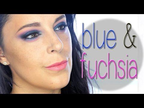 Blue and fuchsia intense makeup tutorial | Silvia Quiros