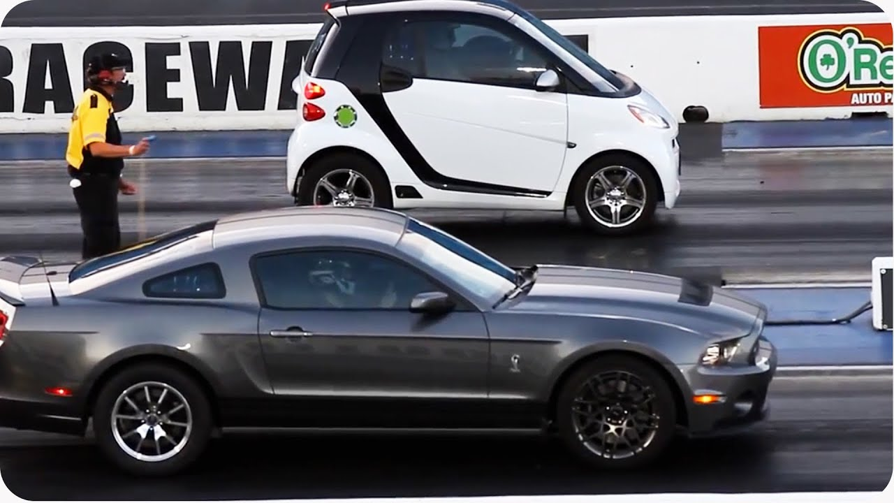 Blown Smart Car Outruns Mustang Epic Drag Race Youtube
