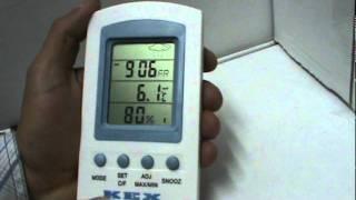 Manejo termometro cuatro pantallas. Reseteo temperaturas.MPG