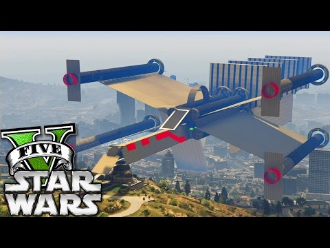GTA V Online: CORRIDA da NAVE do STAR WARS GIGANTE 4!!