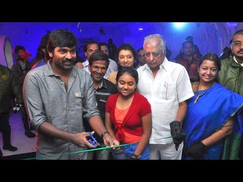 Vijay Sethupathi Inaugurates Colourful Ice Dance Floor at Abirami Mega Mall