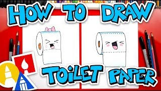 How To Draw Funny Toilet Paper