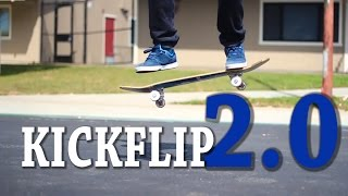 HOW TO KICKFLIP THE EASIEST WAY TUTORIAL 2.0