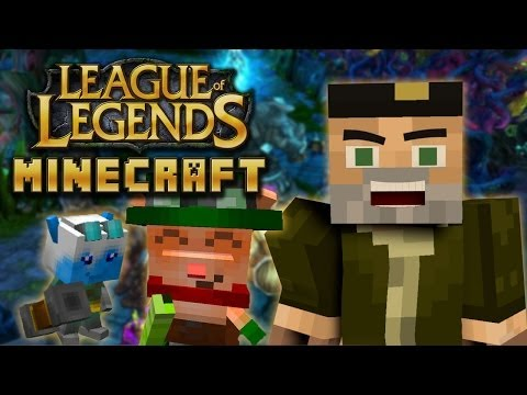 LEAGUE OF LEGENDS MOD   MINECRAFT LOL MOD REVIEW
