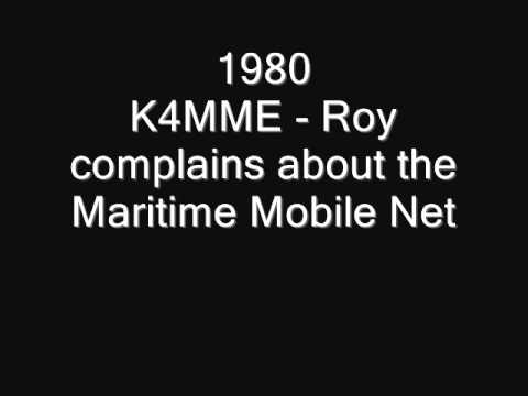 K4MME - Roy complains about the Maritime Mobile Net on 14.313 mhz in 1980