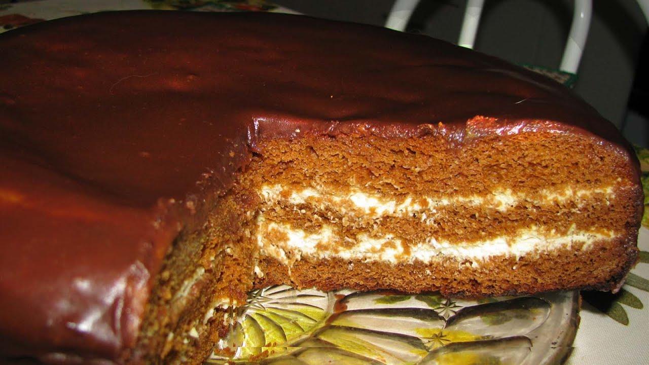 Шоколадно медовые коржи рецепт