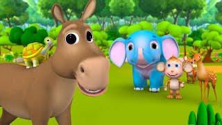 Donkey and Tortoise Friendship Story कछुआ और गधा की दोस्ती हिन्दी कहानी 3D Kids Hindi Moral Stories