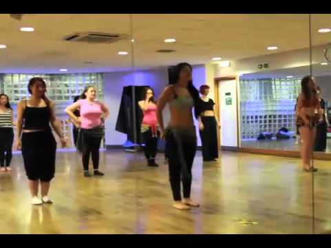 Belly Dance Lesson Work Out (full)  Belly Dancing video