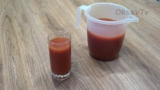 Томатный сок из томатной пасты (домашний рецепт). Tomato juice made from tomato paste.