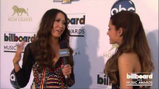Ariana Grande on the Billboard Music Awards Blue Carpet 2013