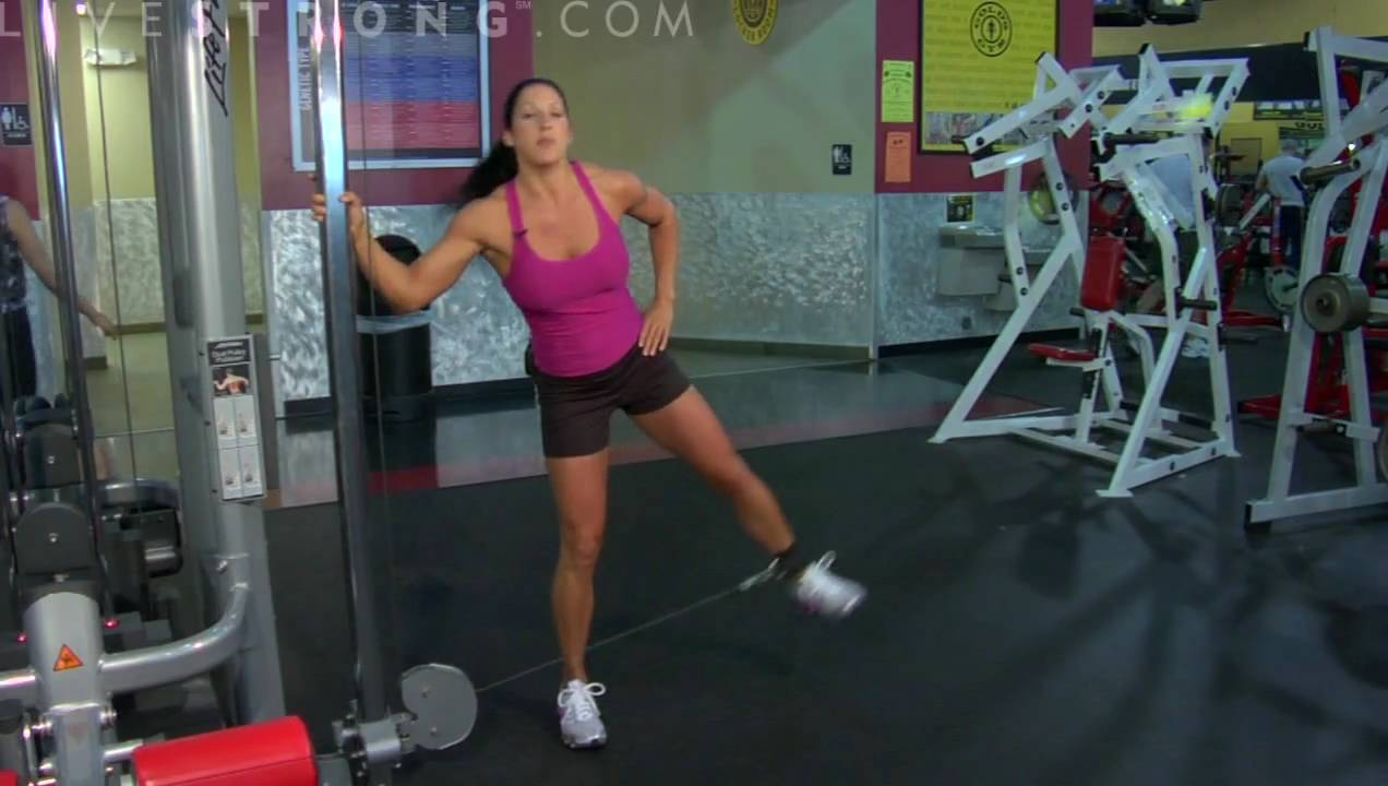 How to Do Cable Hip Abduction Exercise - YouTube