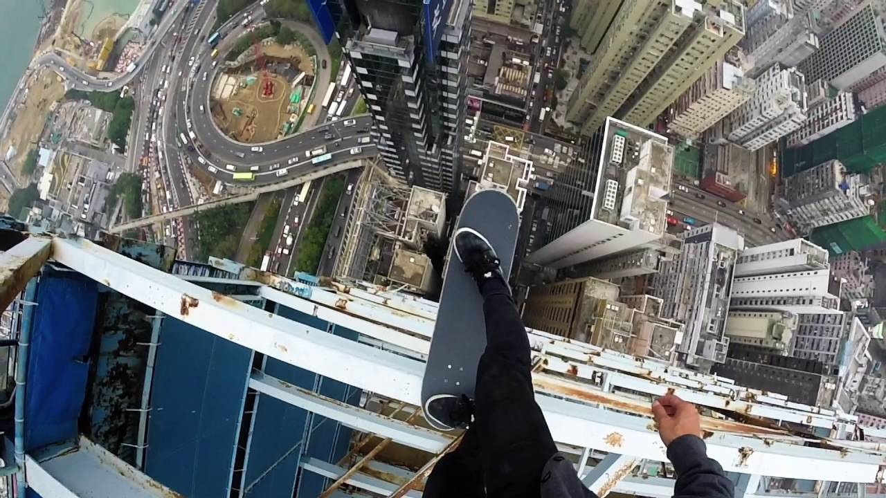 [Would You Ever Skateboard On A High Rise?] Video