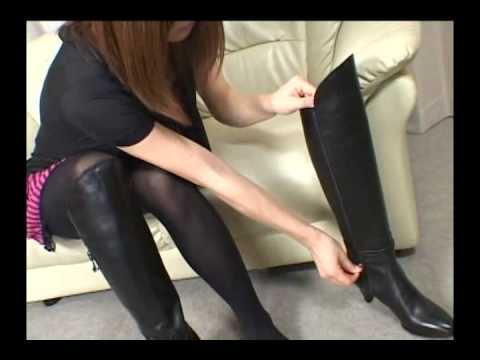 Japanese Girl Putting On Her Boots 10 video