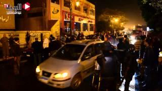 مجهولون يلقون «مولوتوف» يشعل «سيارتين»  أمام نادي المنيا