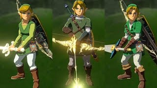 The Legend of Zelda: Breath of the Wild - All amiibo Exclusive Weapons & Armor Sets!