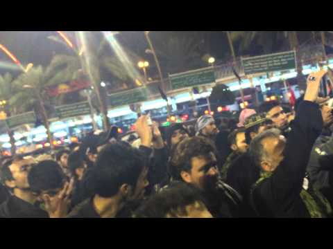 QBH CHEHLUM 2014  IRAQ KARBALA 17 CHALLIAN SHAAM DE RAWAN NU PART 3