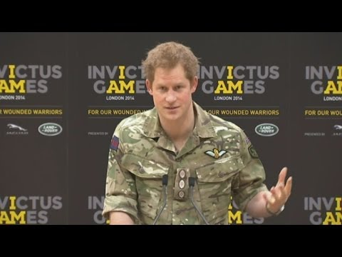 Prince Harry launches Invictus Games in London