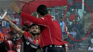IPL 2017: Virat Kohali Angry After Duck Out RCB vs KKR, Match 27th