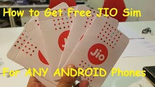 How to Get free JIO 4G Sim for any ANDROID | MUST READ VIDEO DESCRIPTION