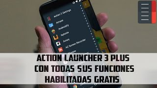Action Launcher 3 Plus(Full-Apk):Un excelente launcher Material Design|Android.