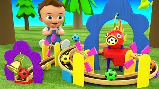 Little Baby Fun Learning Colors with Color Ball Rolling Slider 3D Wooden ToySet for Kids Children
