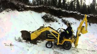 Cub cadet 1450 homemade backhoe and loader
