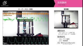 ハイスピードカメラ+データロガー「非接触解析」