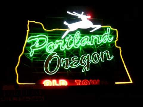 Animated Portland Oregon Sign