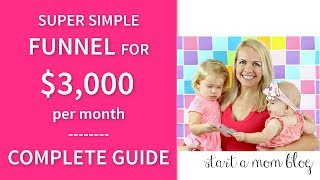 My $3,00 per month Super Simple Sales Funnel - Step by Step