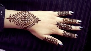 Simple Wrist Henna - Easy to Do Bracelet Style Mehendi Design - Jewelry Style Henna for Beginners