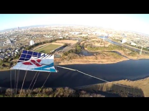 Flying with Kites in Japan (A drone's view)