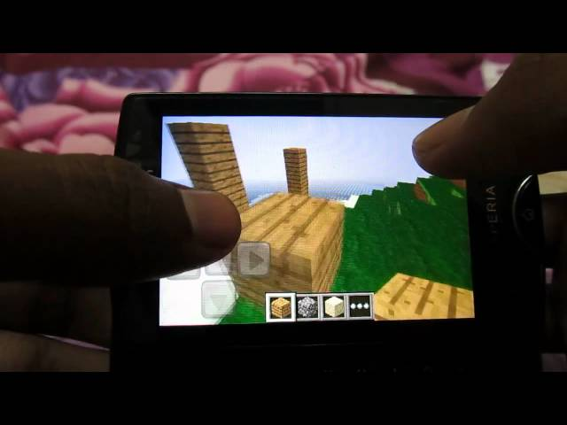 minecraft  on sony ericsson xperia mini pro sk17i