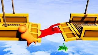 Who Will Be LAST To LET GO?! - Gang Beasts