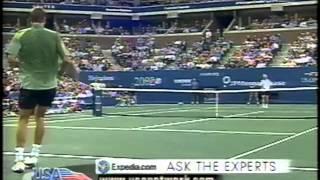Mirnyi vs Agassi US Open 2002