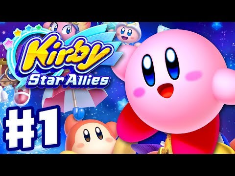 Kirby Star Allies - Gameplay Walkthrough Part 1 - Dream Land 100%! (Nintendo Switch)
