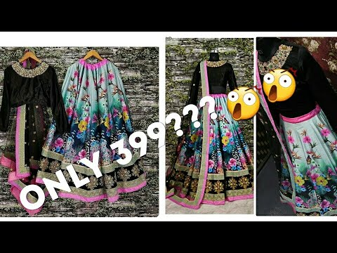 Amazon lehnga reviews|affordable lehnga at Amazon under 500|black lehnga review