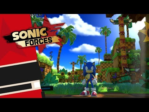 Sonic Forces [Switch] - Modern Sonic Green Hill Gameplay (Japanese eShop Demo)