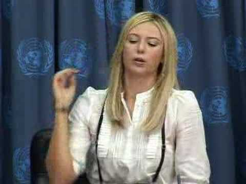 Maria Sharapova appointed Goodwill Ambassador for the UN
