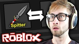 Roblox - Murder Mystery 2 - GOLD KNIFE TRADING & UNBOXING!??