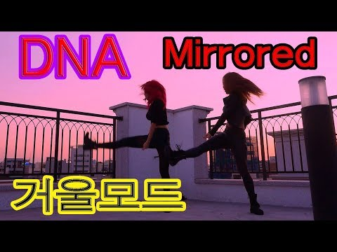 BTS DNA 거울모드(Mirrored) 방탄소년단 WAVEYA