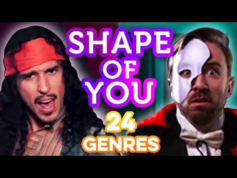 24 Genres. Two Artists. One song - Shape of You Ed Sheeran