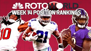 NFL Week 14 Fantasy Football Power Rankings: RB, WR, QB, TE | Rotoworld