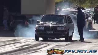 PROWGN 9 SEC V8 SIGMA WAGON AT SYDNEY DRAGWAY 29.6.2014