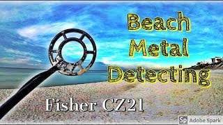 Beach Metal Detecting on the Gulf Coast // Fisher CZ21