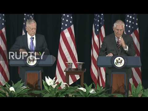 USA: China and US call on North Korea to suspend nuclear weapons programme - Tillerson