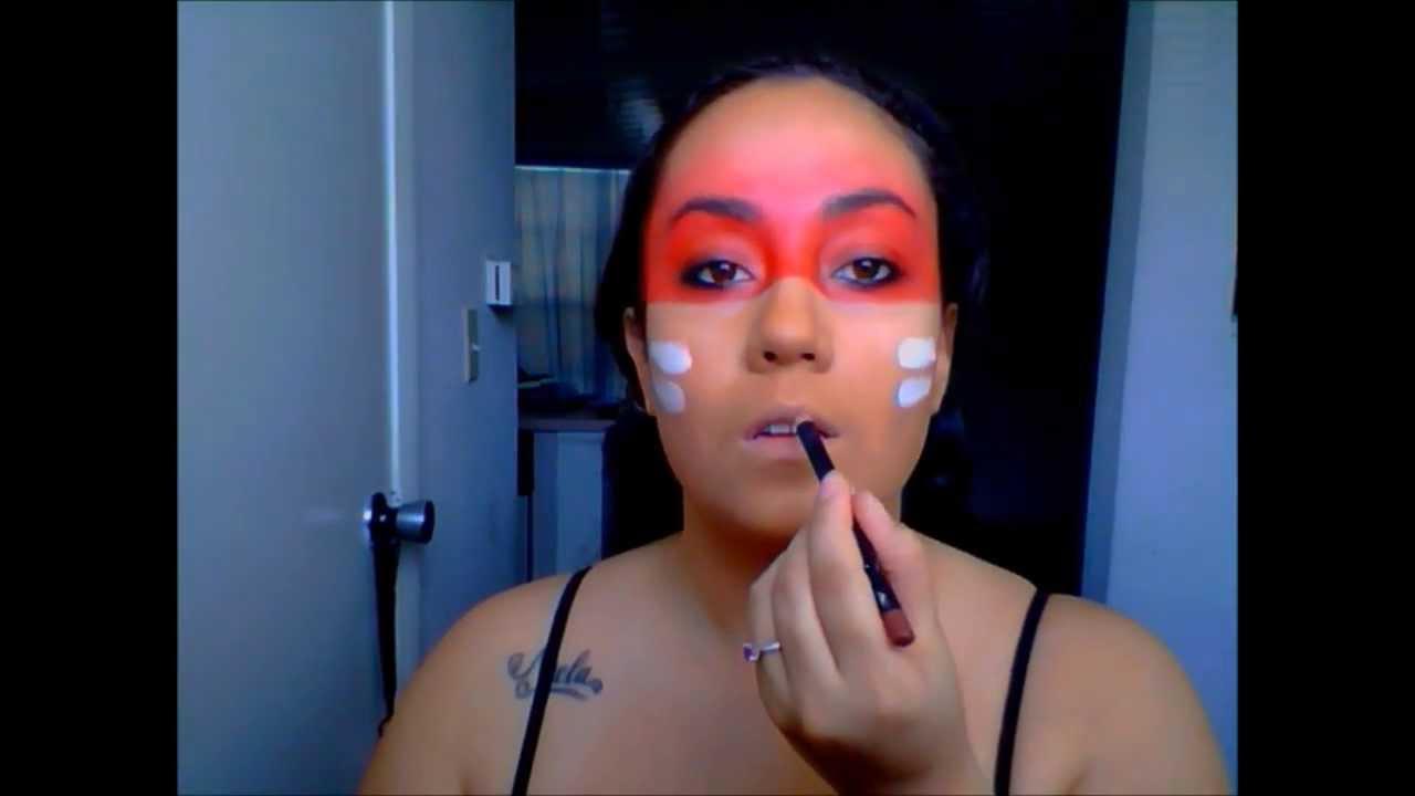 Native American Warrior Inspired Makeup - YouTube