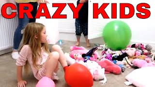 Balloon prank kids playing pretend play with baloons kids playing