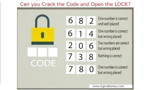 Crack the Code and Open the Lock | This will Eat your Brain