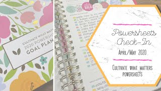 POWERSHEETS CHECK-IN | April Review and May Goal Setting