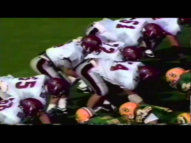 Oregon LB Andy Conner tackle for loss vs. New Mexico State 10-05-91